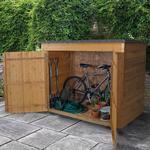 6' x 2'6 Forest Large Double Door Pent Wooden Garden Storage - Bike Store / Mower Outdoor Store (1.8m x 0.75m)
