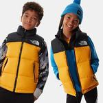 The North Face Youth 1996 Retro Nuptse Gilet Summit Gold Size XL