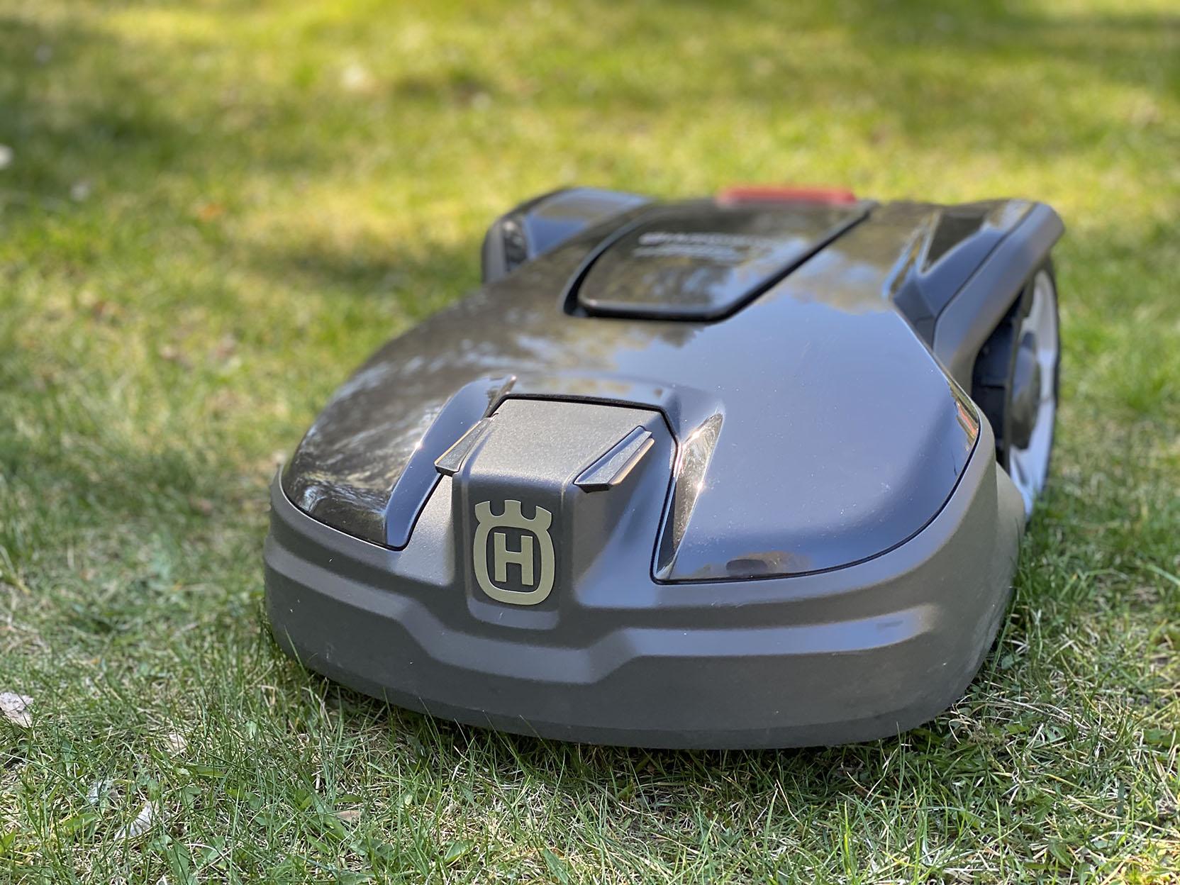 The Husqvarna Automower 305 is Husqvarna's smallest robotic lawn mower