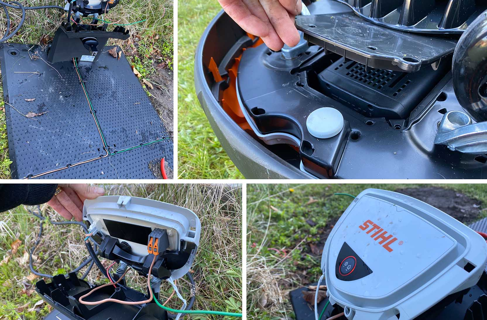 The installation process for the Stihl RMI 632 PC isn't particularly complicated, but it's also rather outdated