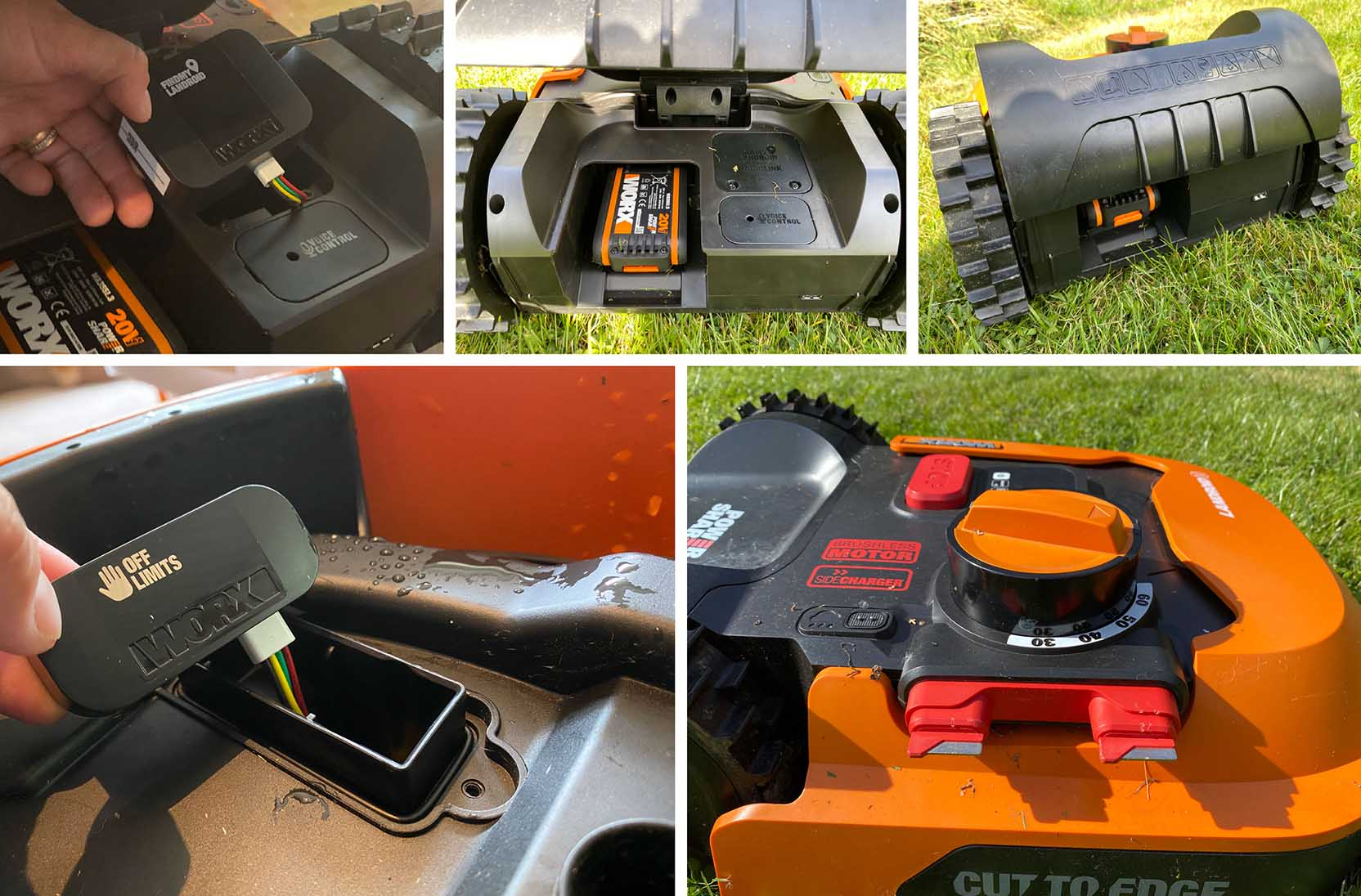 The Worx Landroid M500 is a robotic lawn mower that you can expand with additional functions