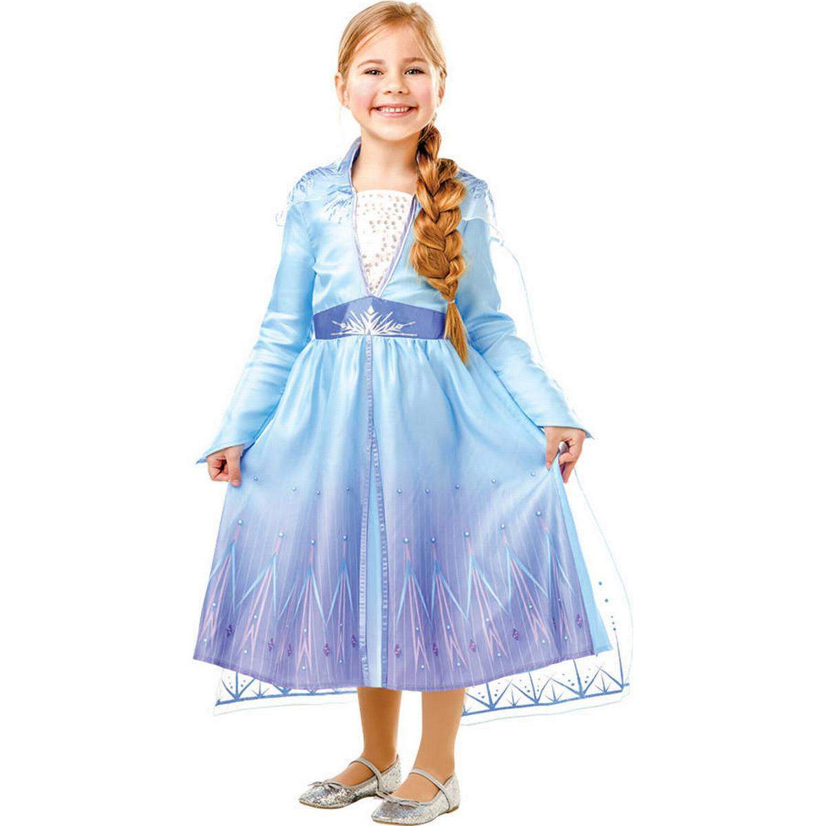 UK Elsa Frozen Fever Fancy Dress Costume Girls Princess Ages 3//4//5//6//7//8//9//10