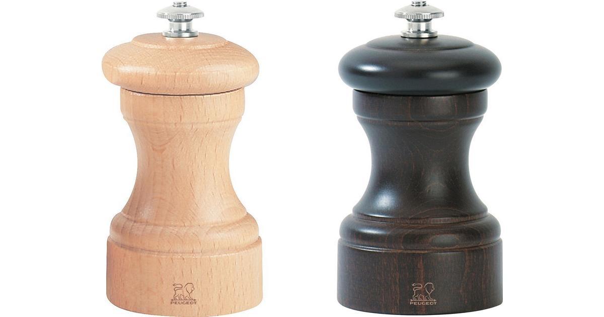 10cm Peugeot Bistro Duo Noir Pepper Mill and Blanc Salt Mill Set