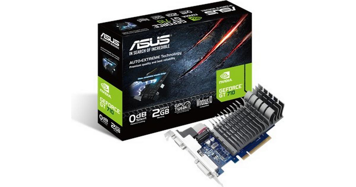 PCI Express 2.0 VGA ASUS 710-2-SL NVIDIA GeForce GT 710 2GB DDR3 Graphics Card