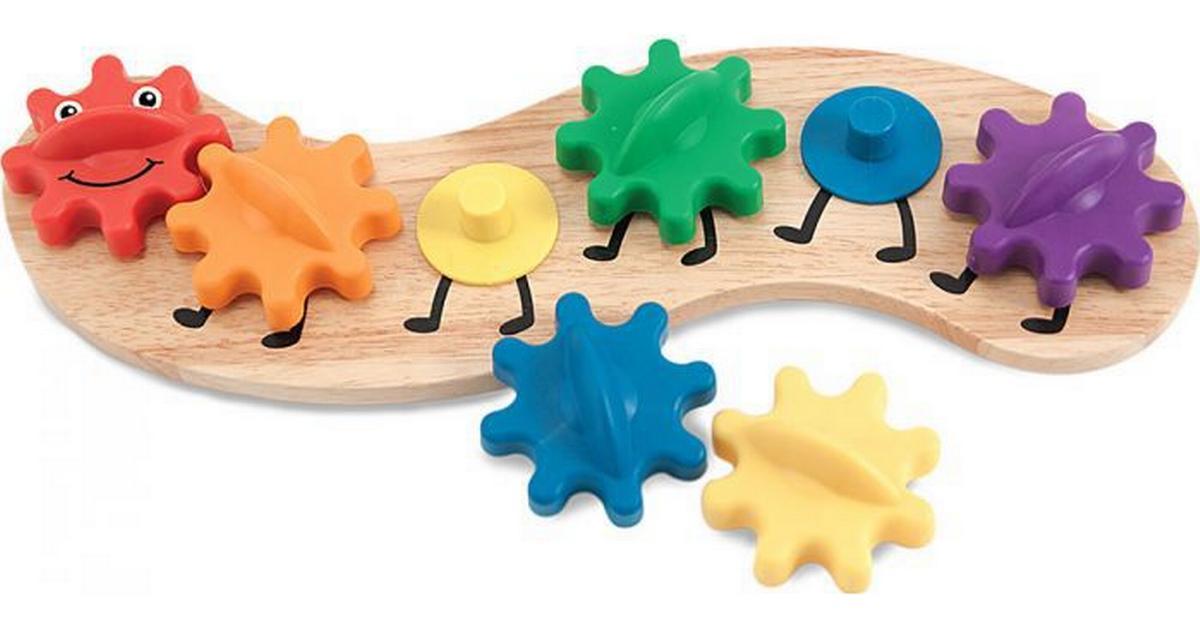 Melissa Doug Caterpillar Gears Toddler Toy