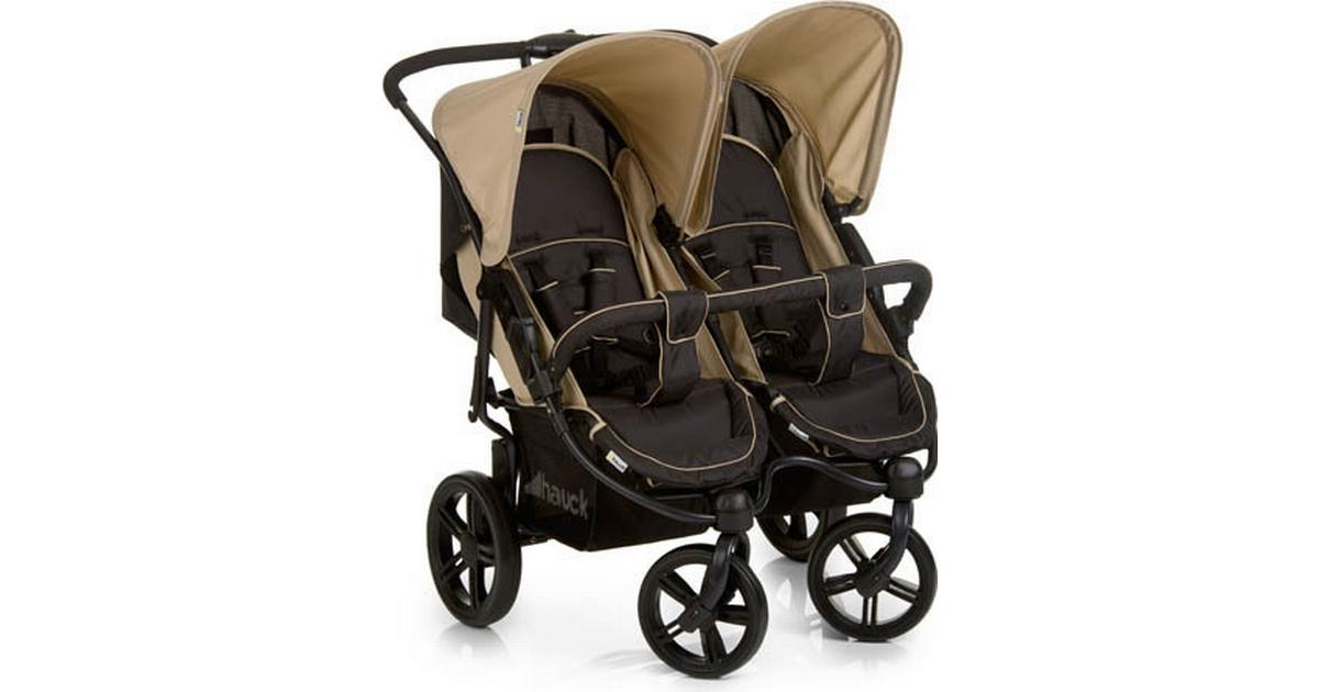 Hauck Roadster Duo SLX Double Pushchair Almond Caviar Side-by-Side Twin