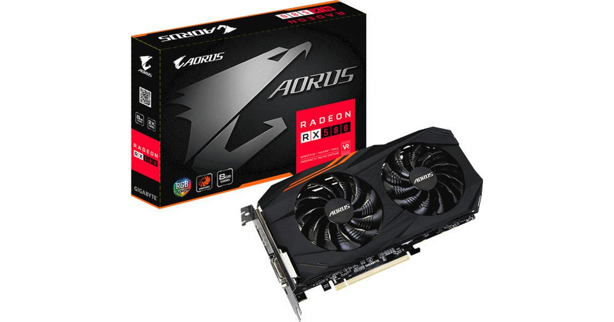 Gigabyte GV-RX580AORUS-8GD AORUS Radeon RX 580 8GB Graphic Cards USED