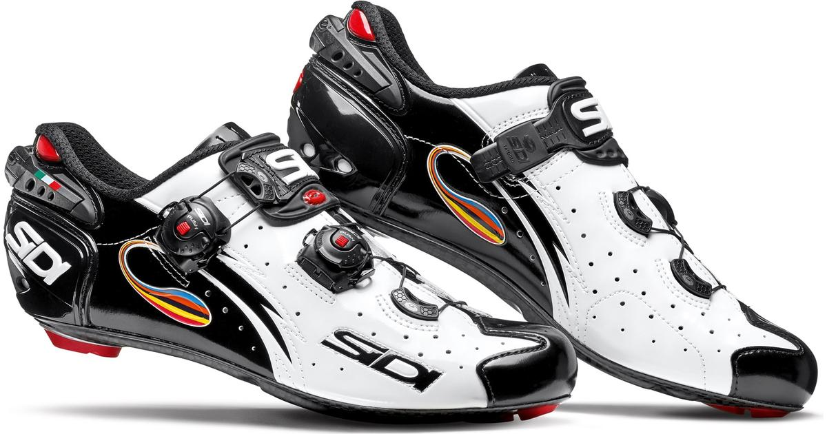 SIDI Wire Carbon Road Cycling Shoes White//Red