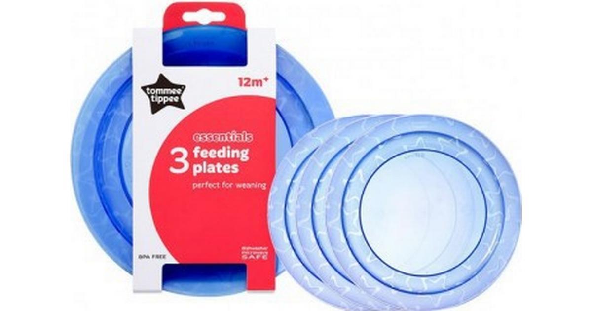Tommee Tippee Essentials Basic Plates 3Pk Orange