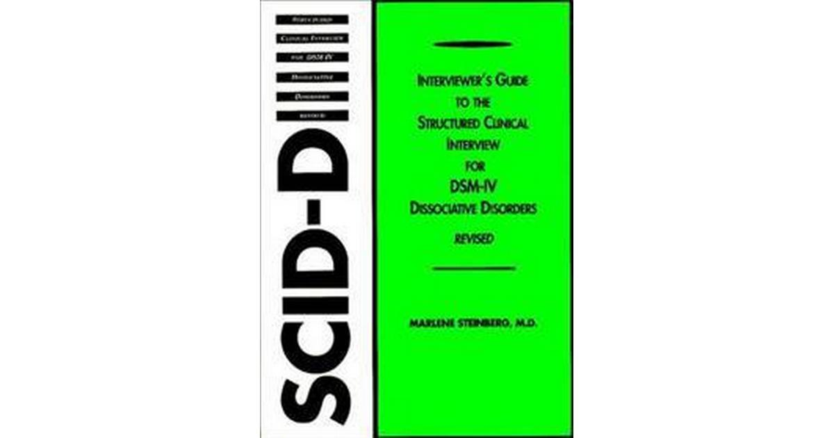 Interviewer's Guide to the Structured Clinical Interview ...