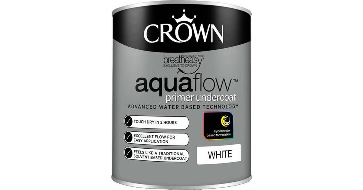 Crown Aquaflow Undercoat Wood Paint Metal Paint White 0 75l