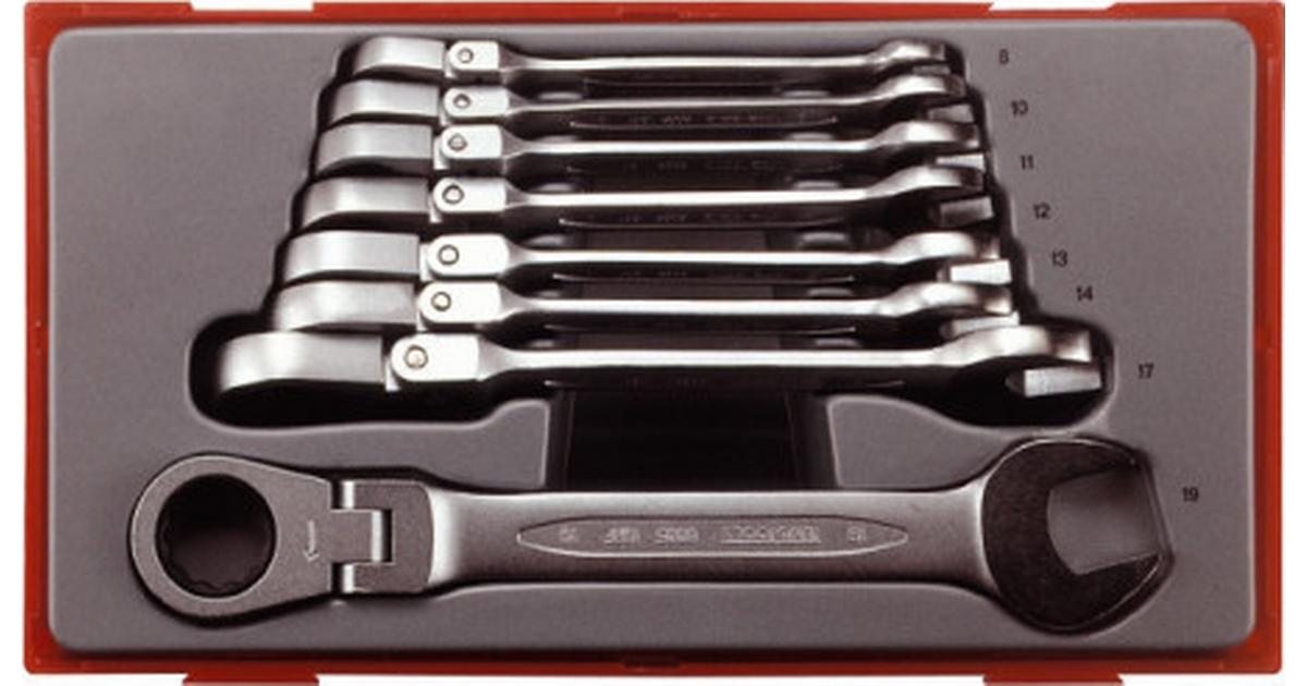 Teng Tools TT6508RF 8 Piece Flexible Ratcheting Wrench Set 8 to 19mm
