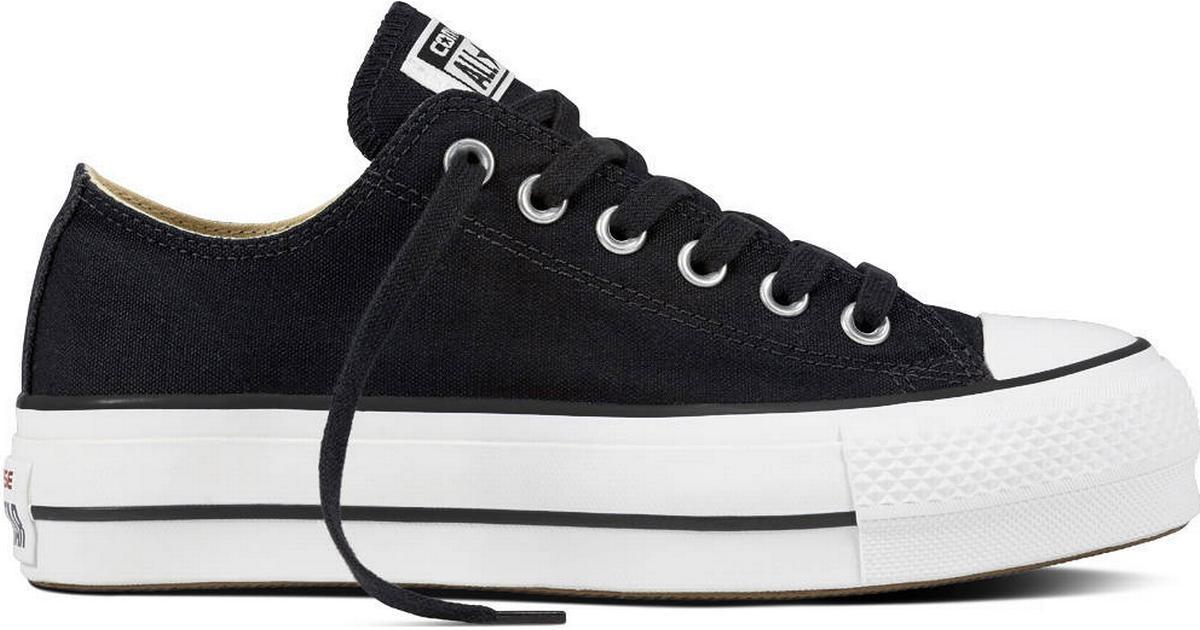 Leyes y regulaciones colección Confusión  Converse Chuck Taylor All Star Lift Canvas Low Top W - Black/White/White •  Compare prices »