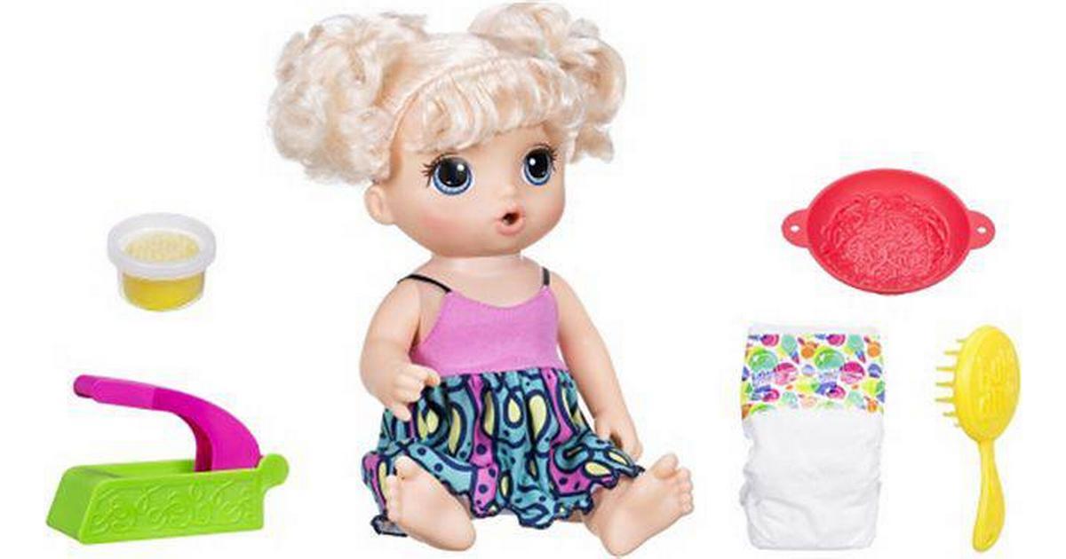 Hasbro Baby Alive Super Snacks Snackin/' Noodles Baby Blonde Blonde Baby Alive Super Snacks Snackin Noodles Baby C0963 Dolls