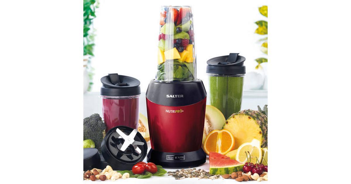 Salter Nutri Max Multi-Mixeur Hacheur Smoothie Maker 1 L Rouge 1000 W BPA Free