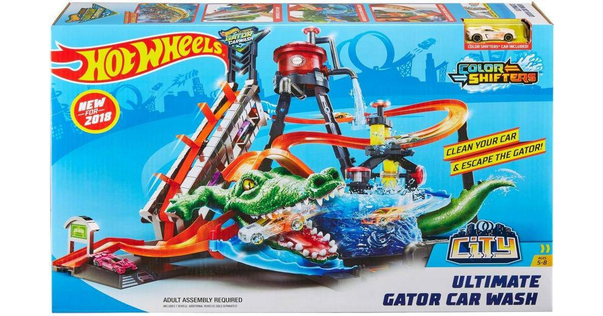 Mattel Hot Wheels City Ultimate Gator Car Wash Compare Prices