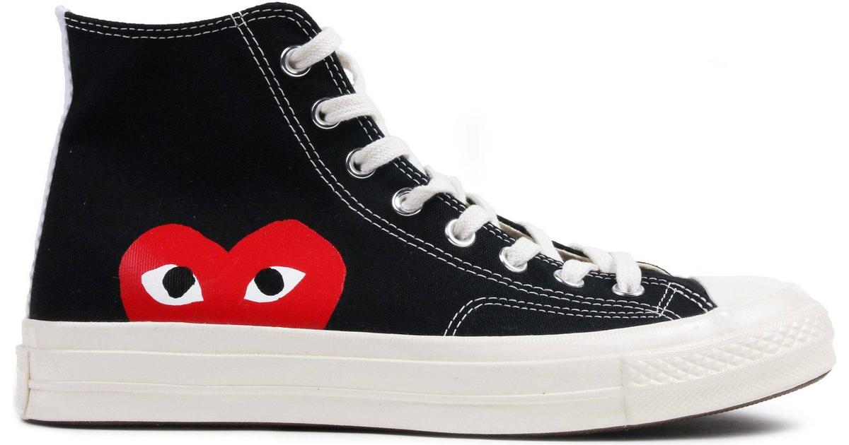 legislación salida Oxido  Comme des Garçons x Converse Chuck 70 - Black/White/High Risk Red • Compare  prices »