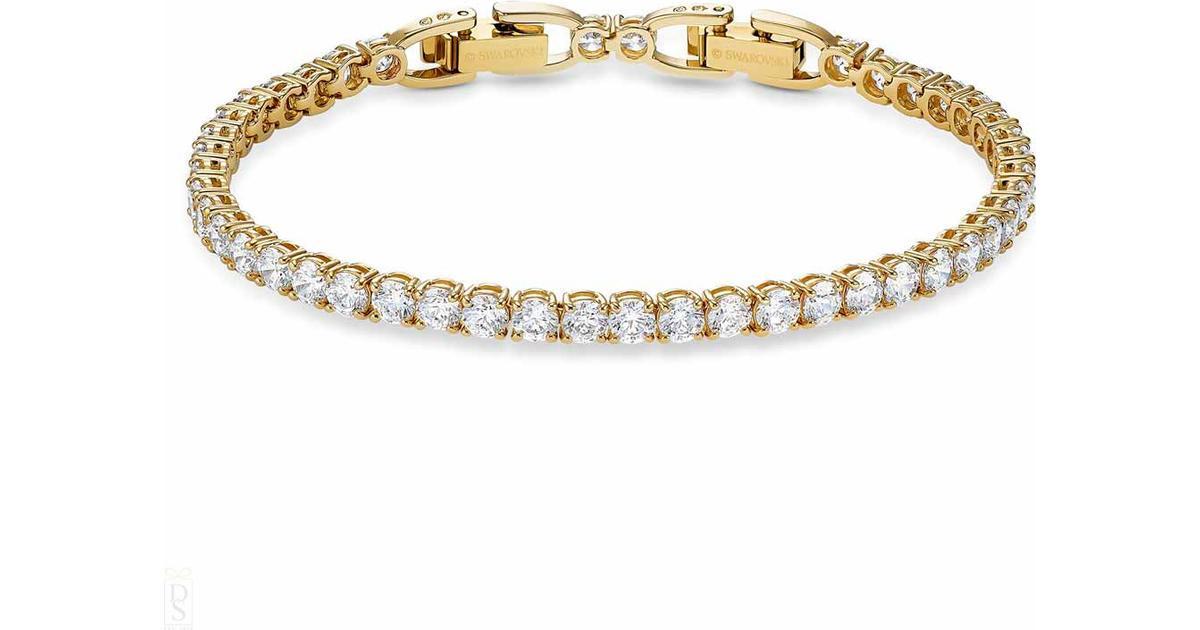 Swarovski Tennis Deluxe Bracelet - Gold/White