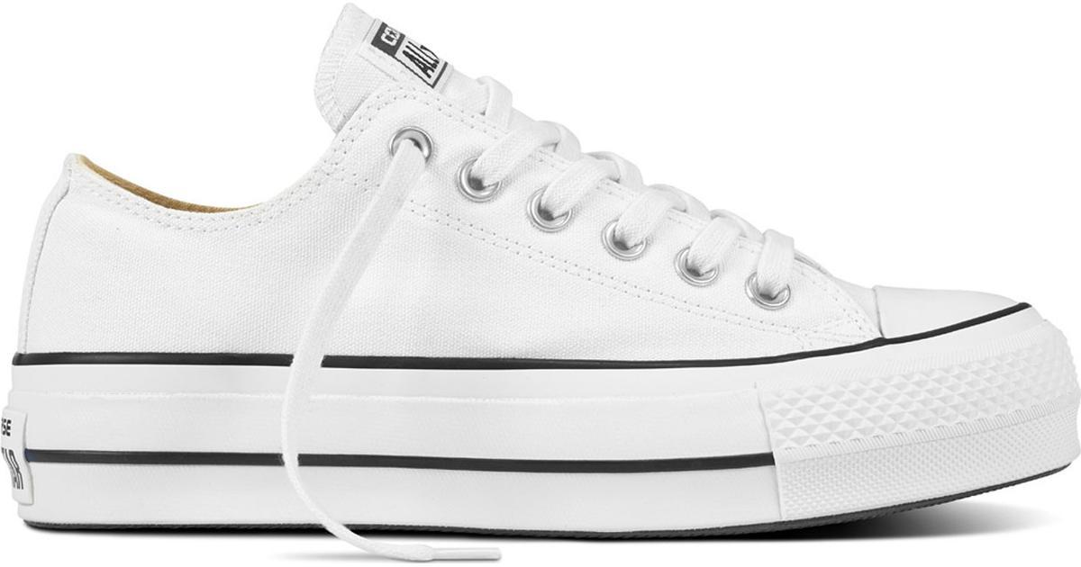 asistente Incontable vendaje  Converse Chuck Taylor All Star Lift Canvas Low Top W - White/Black •  Compare prices »