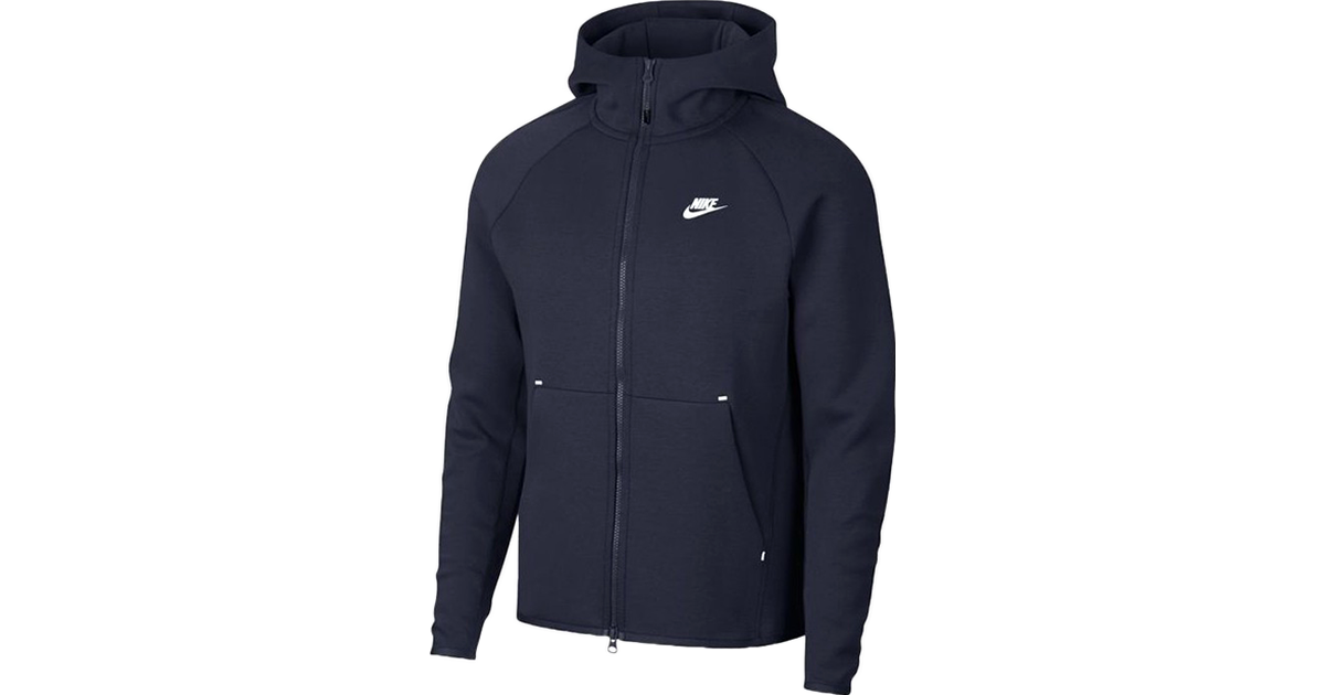 Nike Tech Fleece Full Zip Hoodie Men Obsidian Blue Compare Prices