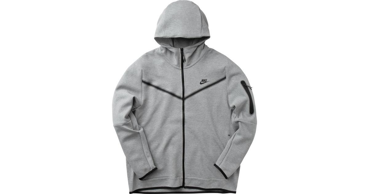 Nike Tech Fleece Full Zip Hoodie Men Dark Grey Heather Black Compare Prices