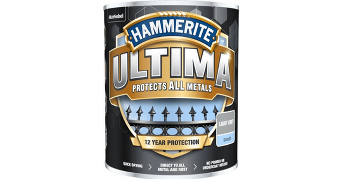 Hammerite Ultima Metal Paint Grey 0.75L • Compare prices now