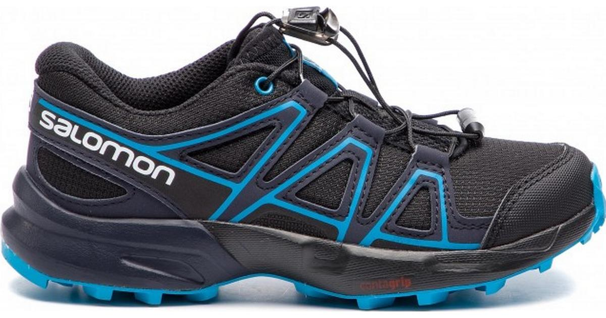 3 Child US Salomon Kids Speedcross J Trail Running Shoes Black//Graphite//Hawaiian Surf