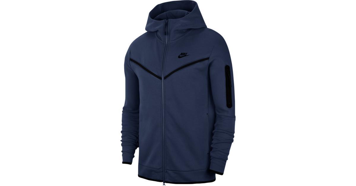 Nike Tech Fleece Full Zip Hoodie Men Midnight Navy Black Compare Prices
