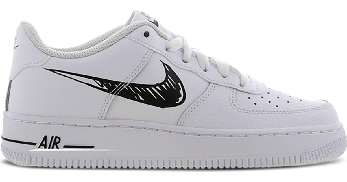 Nike Air Force 1 Low GS - White/Scribble Black