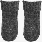 Go Baby Go Alpaca Non-Slip Socks - Dark Grey Melange