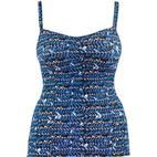 Curvy Kate Instinct Tankini Top - Deep Sea Blue