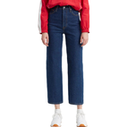 Levi's Ribcage Straight Ankle Jeans - Life's Work/Blue