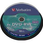 4x - DVD Verbatim DVD-RW 4.7GB 4x Spindle 10-Pack