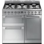 Dual Fuel Cooker Dual Fuel Cooker price comparison Smeg SY93 Stainless Steel