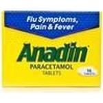 Fever Relief Anadin Paracetamol 500mg 12pcs