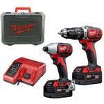 Drills & Screwdrivers Milwaukee M18 BPP2C-402C (2x4.0Ah)