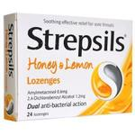 Dichlorobenzyl - Cold Medicine Strepsils Honey & Lemon 24pcs