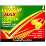 Caffeine - Cough Lemsip Max Cold & Flu 500mg 8pcs
