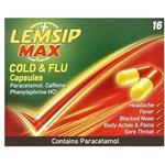 Caffeine - Cough Lemsip Max Cold & Flu 500mg 16pcs
