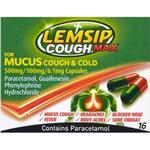Joint and Muscle Pain Lemsip Cough Max For Mucus Cough & Cold 500mg 16pcs