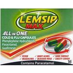 Sore throat Lemsip Max All In One Cold & Flu 500mg 16pcs