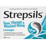 Amylmetacresol Medicines Strepsils Sore Throat & Blocked Nose 36pcs