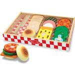 Food Toys on sale Melissa & Doug Wooden Sandwich Making Set