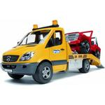 Plasti - Tow Truck Bruder Mb Sprinter with Cross Country Vehicle 02535