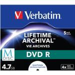 -R - DVD Verbatim DVD-R 4.7GB 16x Jewelcase 5-Pack Inkjet