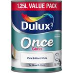 Dulux once gloss Paint Dulux Once Gloss Wood Paint, Metal Paint White 1.25L