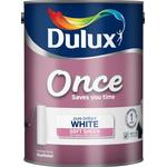 Dulux Once Soft Sheen Wall Paint, Ceiling Paint White 5L