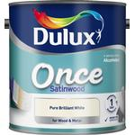 Dulux Once Satinwood Wood Paint, Metal Paint White 2.5L