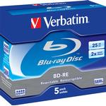 Optical Storage Verbatim BD-RE 25GB 2x Jewelcase 5-Pack