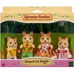 Dollhouse dolls - Cats Sylvanian Families Striped Cat Family